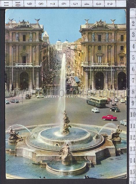 Piazza della repubblica esedra cartoline postali for Palazzo delle esposizioni via nazionale roma