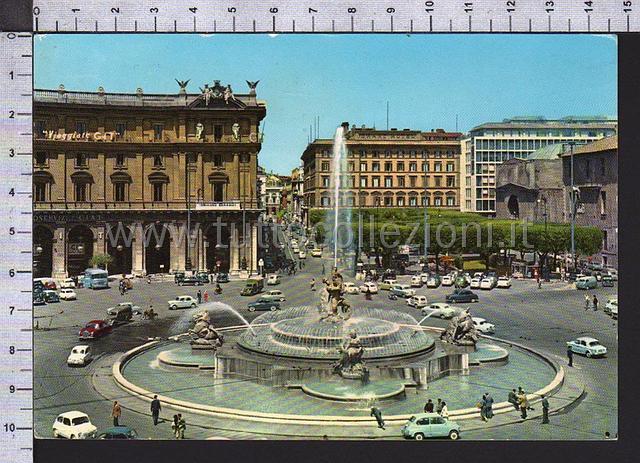 Piazza della repubblica esedra cartoline postali for Sito della repubblica