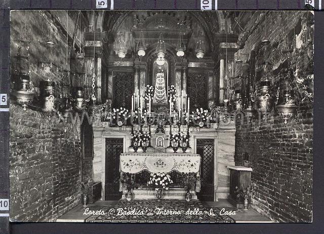 Loreto cartoline postali il sito per for Interno della casa
