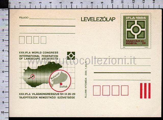 Magyar posta collezione filatelica dell 39 ungheria for International federation of landscape architects