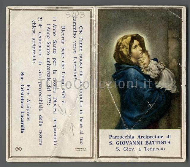 Calendario Anno 1974.Calendarietti Religiosi Tuttocollezioni It Il Sito Per